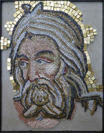 Portrait en mosaïque byzantine
