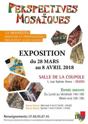 Affiche de l'exposition de mosaïque à Dijon