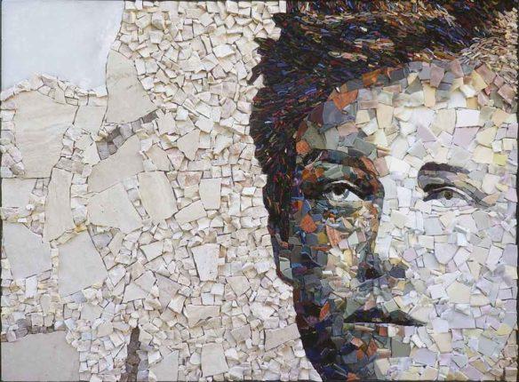 Exemple d'un portrait réalisable en stage de mosaïque