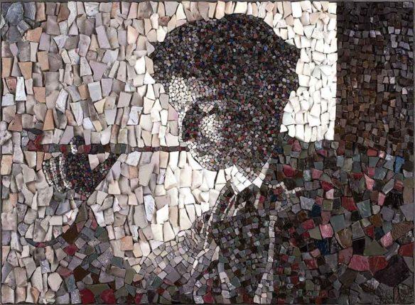 Portrait en stage de mosaïque